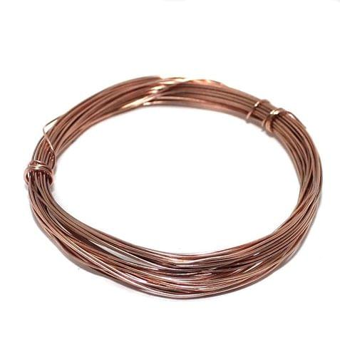 Jewellery Making Copper Plated Brass Craft Wire, 20 Mtrs, 26 Gauge Thick (0.45 mm)