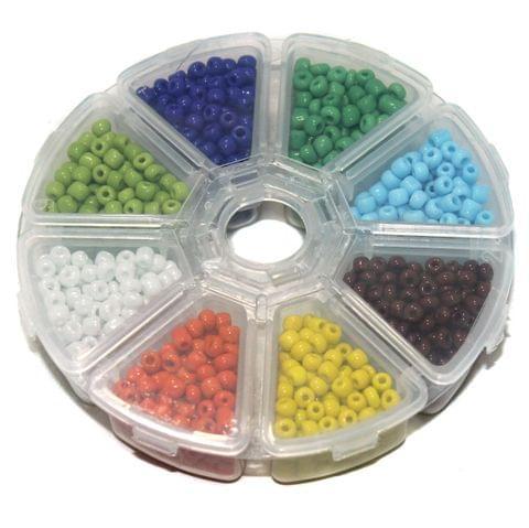 Jewellery Making Opaque & Metallic Seed Beads Kit[8 Colors]