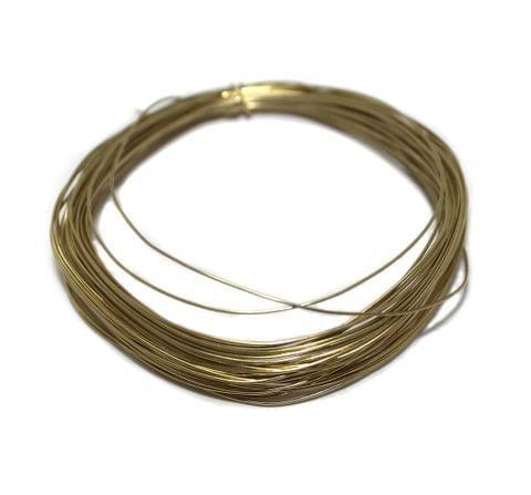 25 Mtrs Golden Plated Brass Craft Wire, 24 Gauge (0.55 mm)