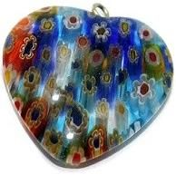 Milifiori Multi Mix Heart Pendant 25mm