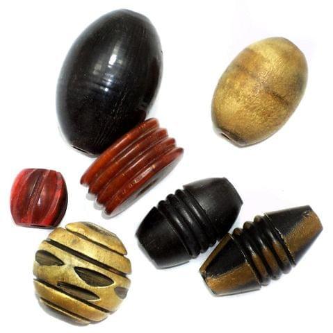 20 Horn Beads Assorted 8-25mm