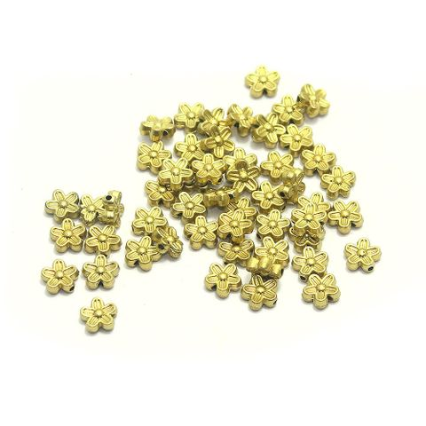 630+ Acrylic Flower Beads Golden Finish 9