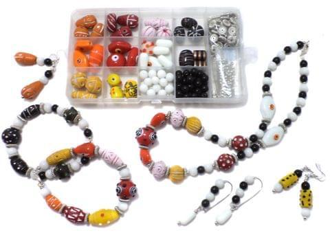 Beadsnfashion Jewellery Making Clay And Glass Beads DIY Kit