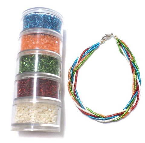 Jewellery Making 2 Cut Seed Beads DIY Kit