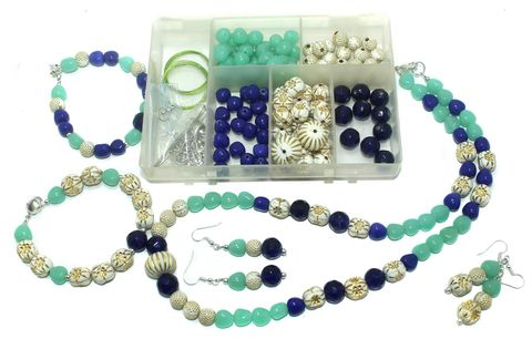 Jewellery Making Glass And CCB Beads Diy Kit