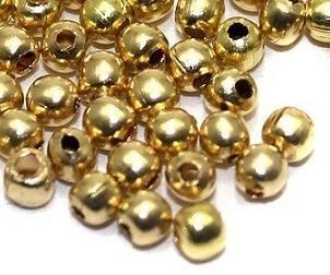 1400 Brass Ball Beads Golden 3