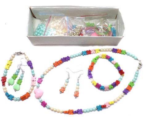 Kids Jewellery Making Acrylic Beads & Acrylic Pearl Beads DIY Kit