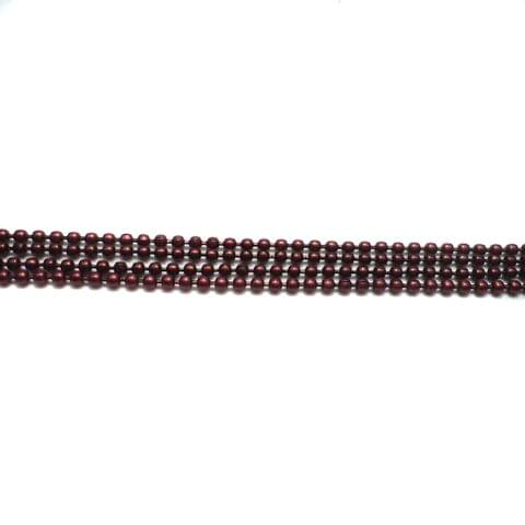 4 Metal Ball Chain Maroon 2 [1 Mtr Each]