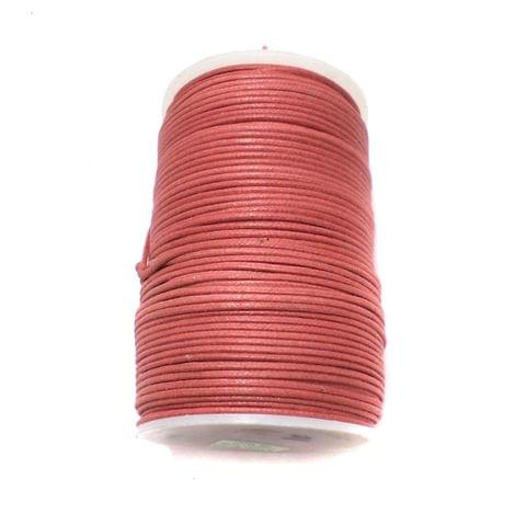 100 Mtrs. Jewellery Making Cotton Cord Crimson Red 2 mm