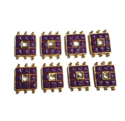 8 pcs Purple Color Spacers 30x22mm
