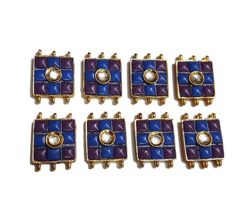 8 pcs Purple,Dark Blue Color Spacers 30x22mm