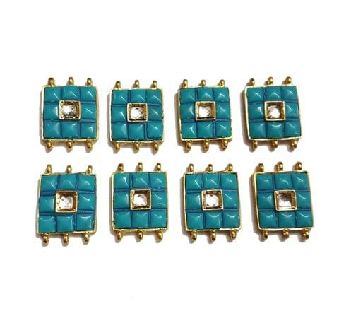 8 pcs Turquoise Color Spacers 30x22mm