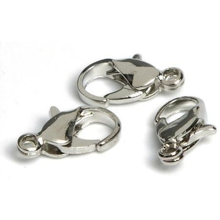 25 Toggle Clasps Silver Finish 7x12mm