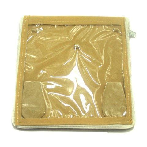 Jewellery Storage Folder Golden 7x7 Inches, Pack of 25 pcs