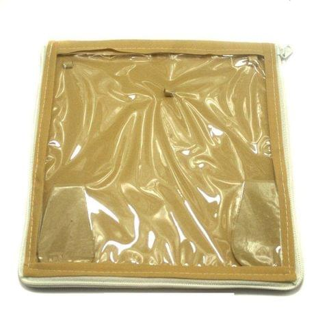 Jewellery Storage Folder Golden 8x8 Inches, Pack of 25 pcs