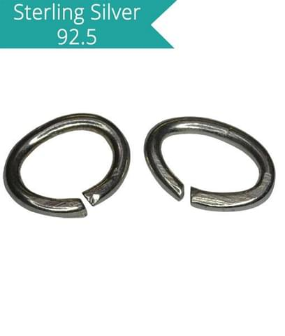 925 Silver 6x4mm Oval Open Jump Rings