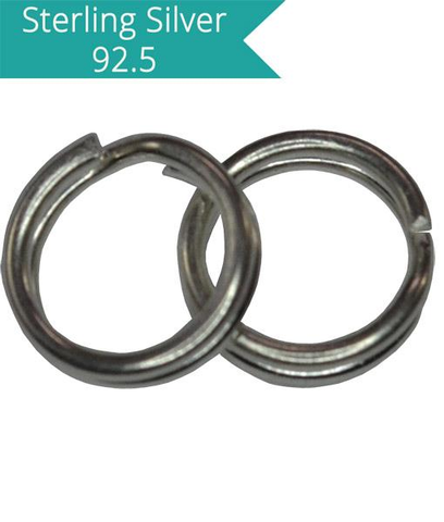 925 Silver 4mm Split Rings