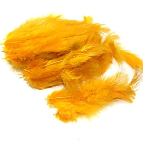 100 Jewellery Making Feather Light Orange