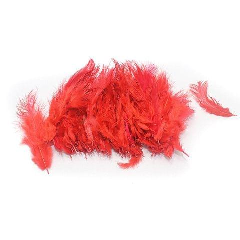 100 Jewellery Making Feather Red