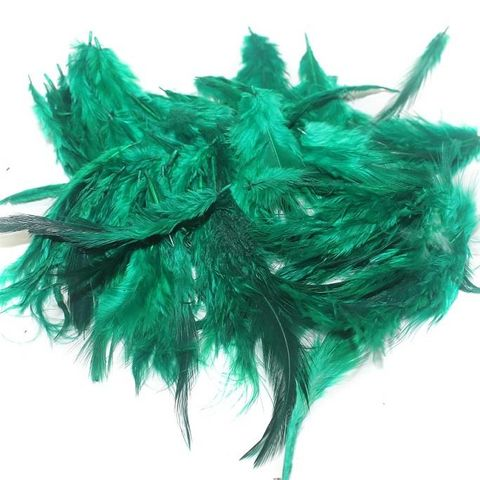 100 Jewellery Making Feather Green
