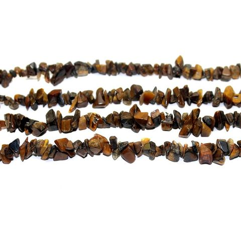 300+ Stone Uncut Beads Brown 5-8mm