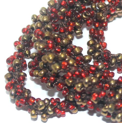 1 Mtr Multicolor Seed Bead Beaded String For Necklace