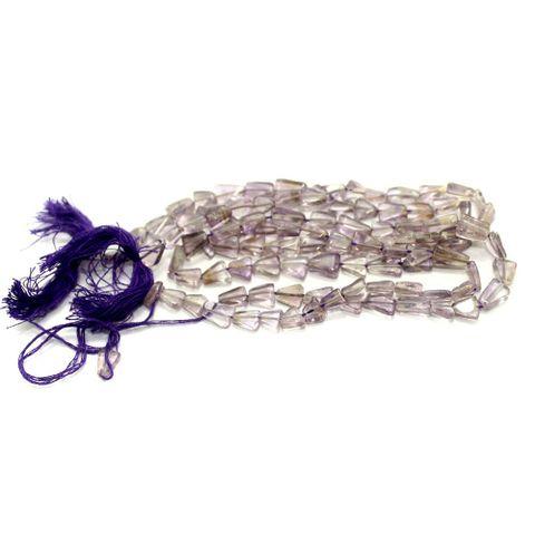 1 Strings Semiprecious Triangle Beads Purple Trans 8X6mm