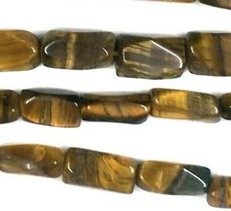 1 Strings Semiprecious Stone Cut Rectangle Beads Tiger Eye 8x4 mm