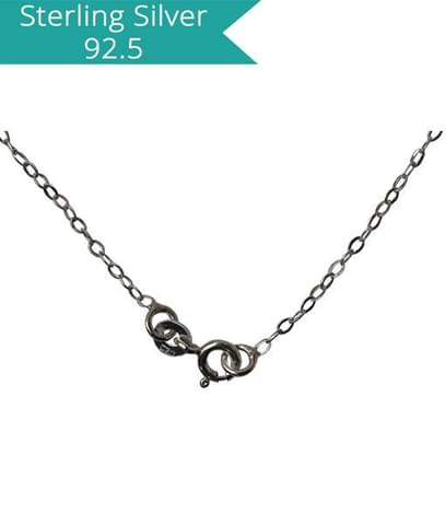 Sterling Silver Flat Link Chain-45 Cms