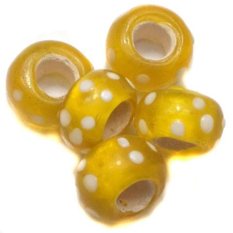 10 Pandora Beads Yellow 8x14mm