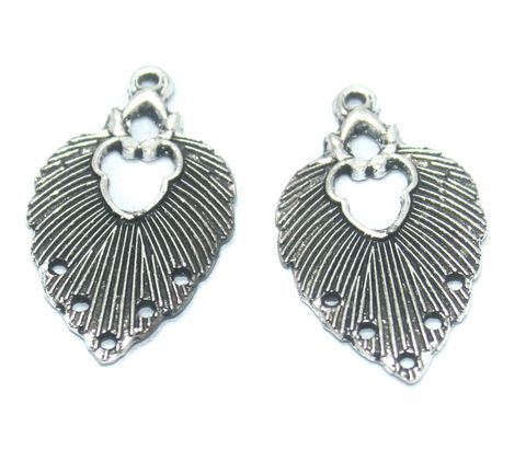 25 Pcs. German Silver Earring Components, Size-33x20mm