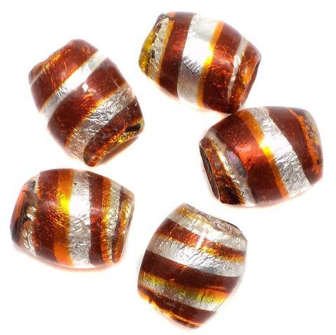 25+ Silver Wrap Swirl Oval Beads 15x12mm