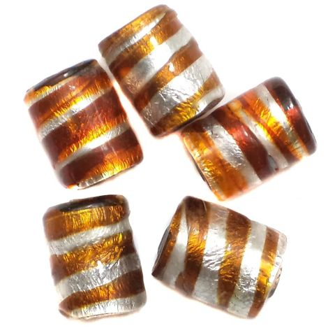 35+ Silver Wrap Swirl Tube Beads 14x10mm