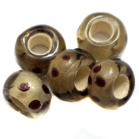 20 Pandora Beads Grey 8x14mm