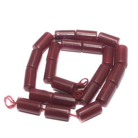 Jaipuri Beads Red Tube 5 Strings 16x8mm