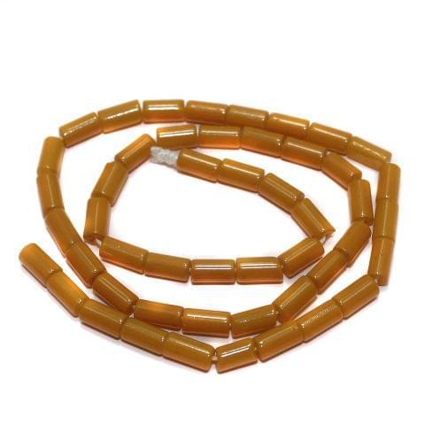 Jaipuri Beads Yellow Tube 5 Strings 8x4mm