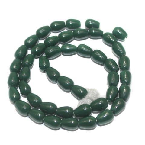 Jaipuri Beads Green Drop 5 Strings 8x6mm