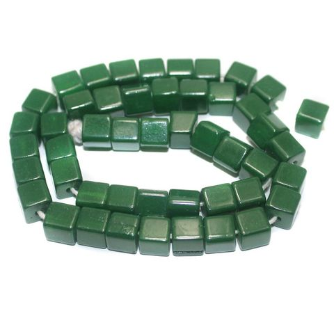 Jaipuri Beads Green Cube 5 Strings 8mm