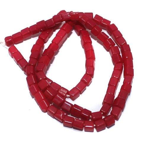 5 Strings of Jaipuri Cube Beads Pink 4mm