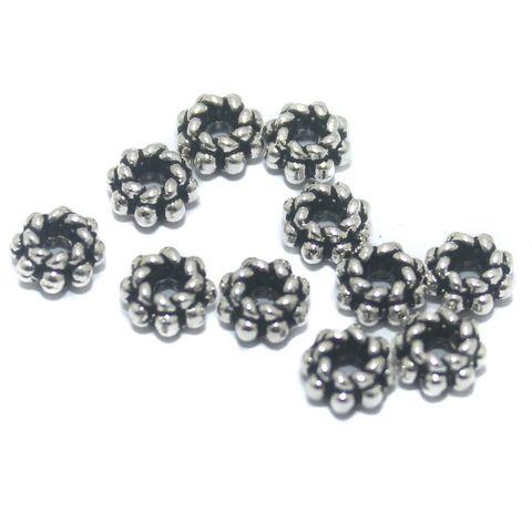 200 Pcs German Silver Beads 5x3mm