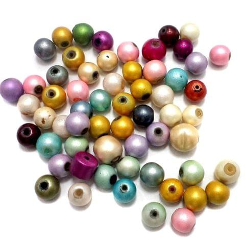 120+ Disco Round Beads Assorted 8 mm