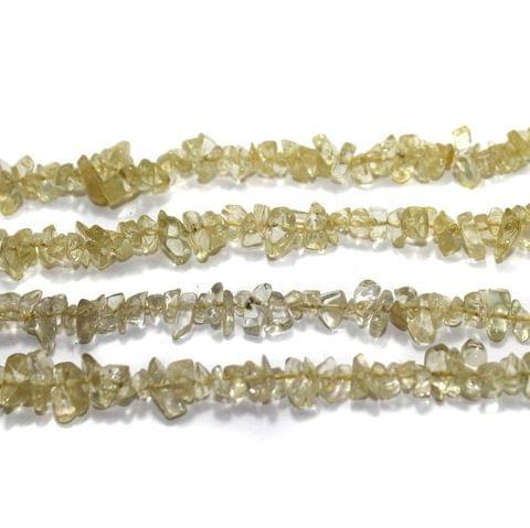 220+ Glass Chips Light Yellow 5-8mm