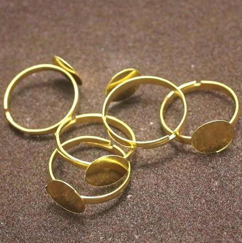 20 Finger Ring Base Golden Free Size