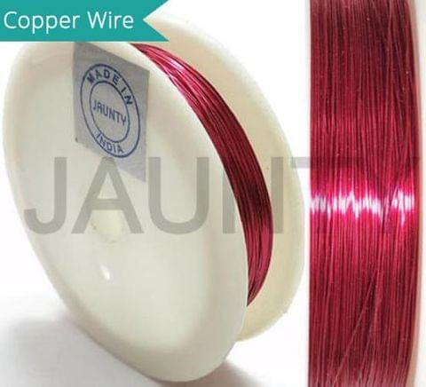 35 Mtrs. Jewellery Making Copper Wire Hot Pink 0.28