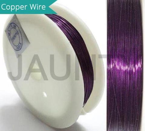 35 Mtrs. Jewellery Making Copper Wire Purple 0.28