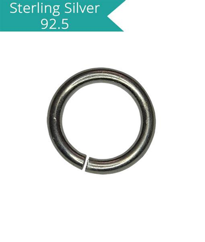 5x0.8mm Open 925 Silver Jump Ring
