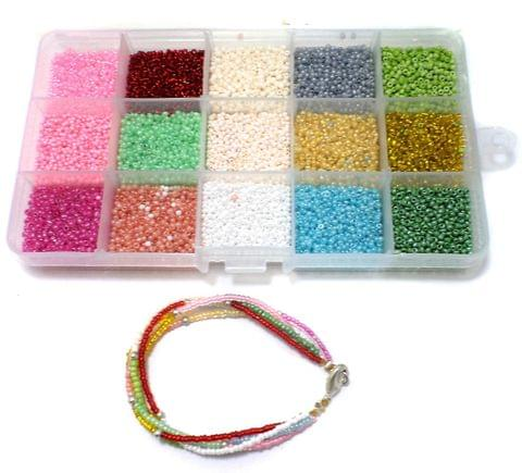 Jewellery Making Seed Beads Colors Of Joy Kit[15 Colors]