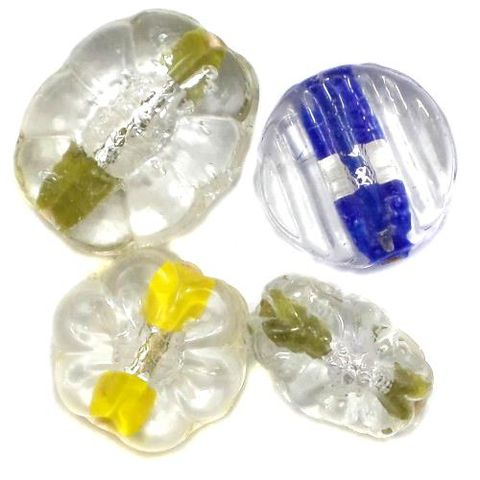 25+ Silver Foil Beads Assorted 12-20mm