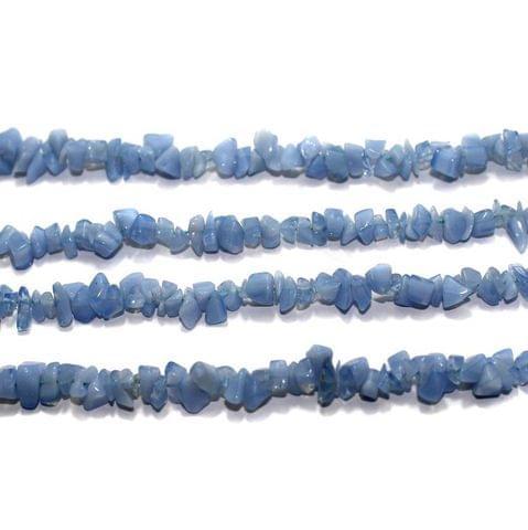 220+ Glass Chips Light Sky Blue 5-8mm