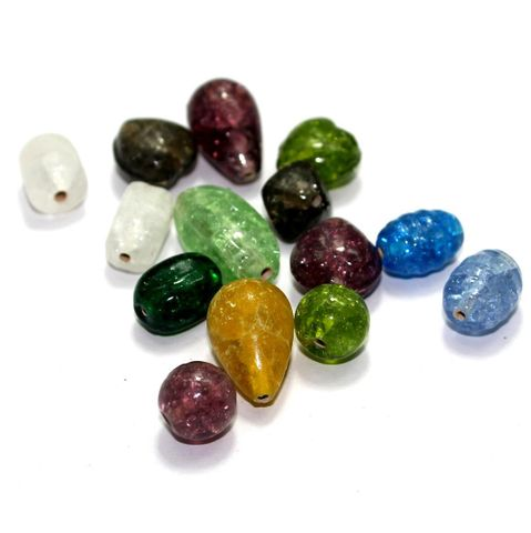 100+ Crackle Beads Assorted 10-24mm